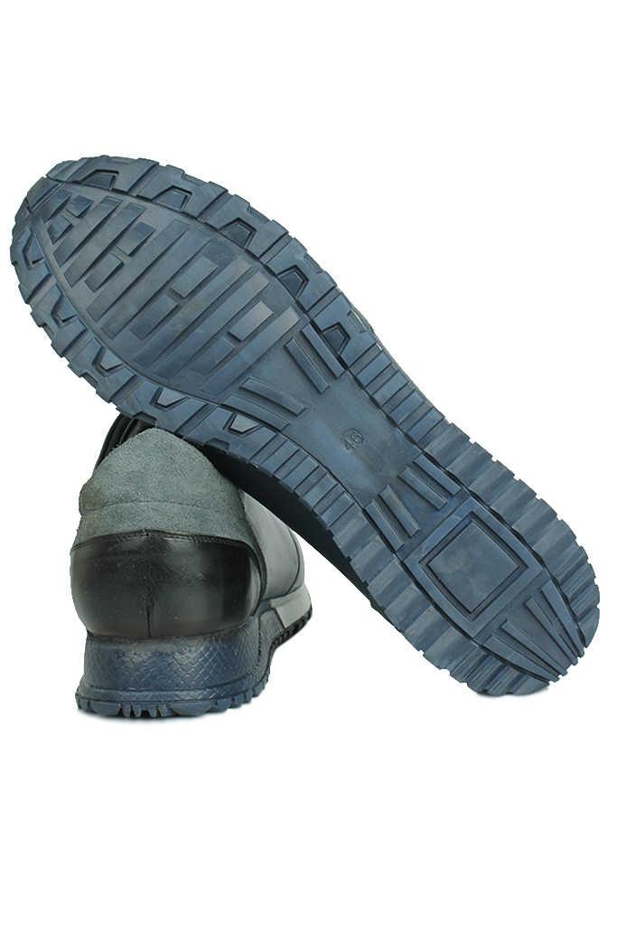 Erkan Kaban 914510 424 Erkek Lacivert Deri Sport Ayakkabı