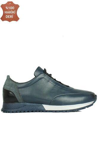 Fitbas 914510 424 Erkek Lacivert Deri Spor Büyük Numara Ayakkabı