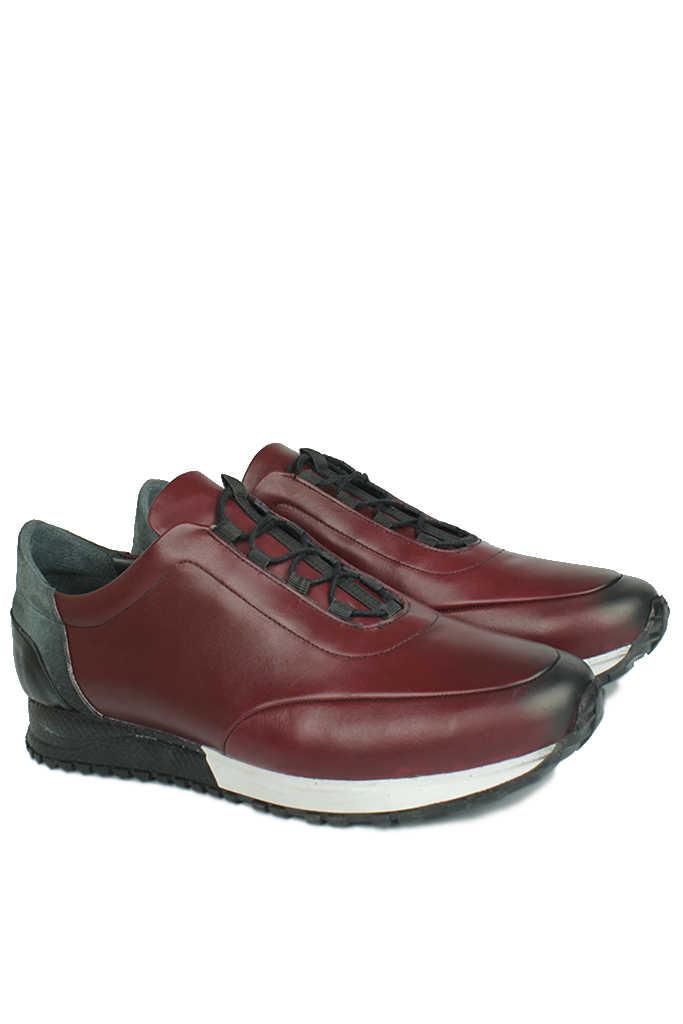 Fitbas 914510 624 Erkek Bordo Deri Spor Büyük Numara Ayakkabı