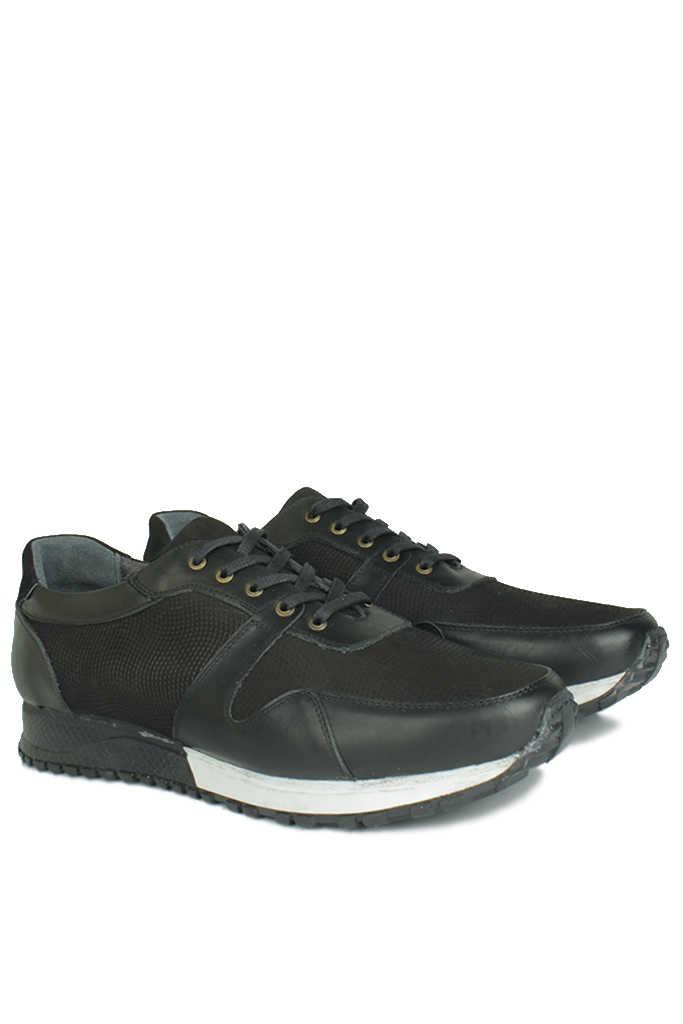 Erkan Kaban 914512 014 Erkek Siyah Deri Spor Büyük Numara Ayakkabı