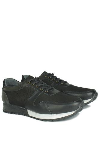 Erkan Kaban - Erkan Kaban 914512 014 Erkek Siyah Deri Spor Büyük Numara Ayakkabı (1)