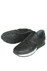 Erkan Kaban 914512 014 Erkek Siyah Deri Spor Büyük Numara Ayakkabı - Thumbnail