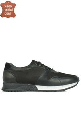 Fitbas 914512 014 Erkek Siyah Deri Spor Büyük Numara Ayakkabı - Thumbnail