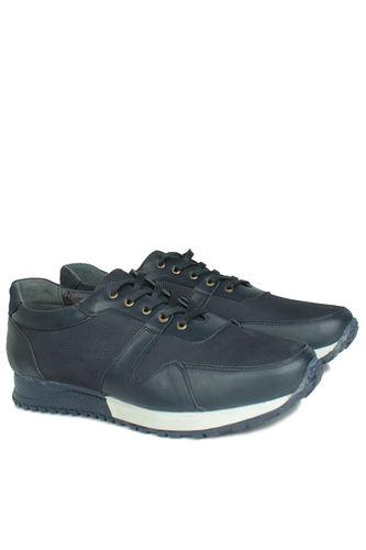 Fitbas - Erkan Kaban 914512 424 Men Navy Blue Genuine Leather Sport Shoes (1)