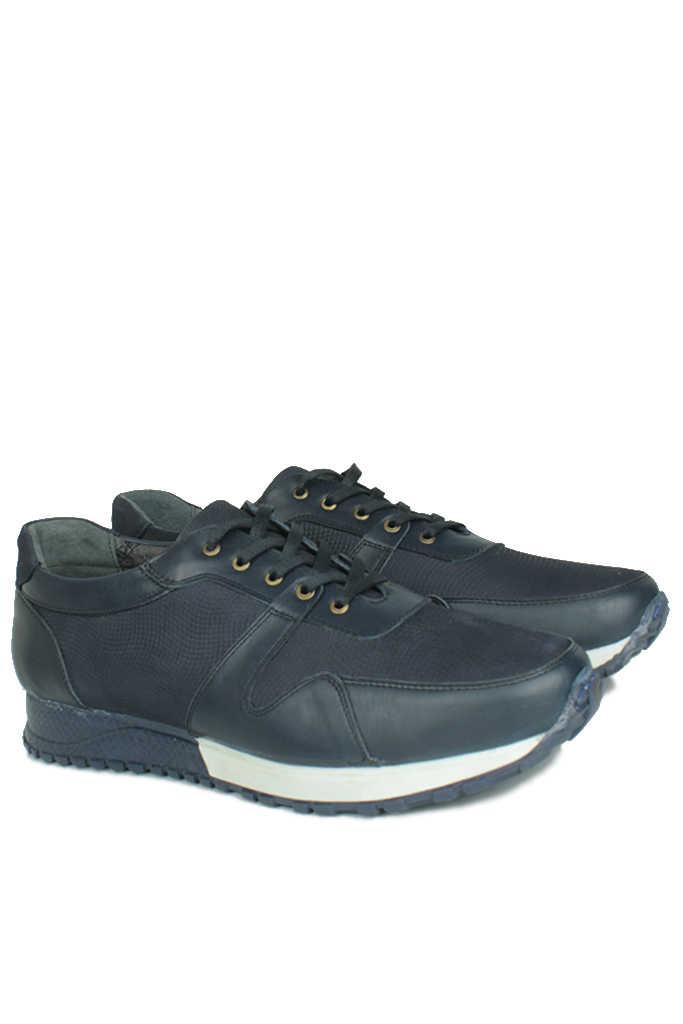 Erkan Kaban 914512 424 Erkek Lacivert Deri Sport Ayakkabı