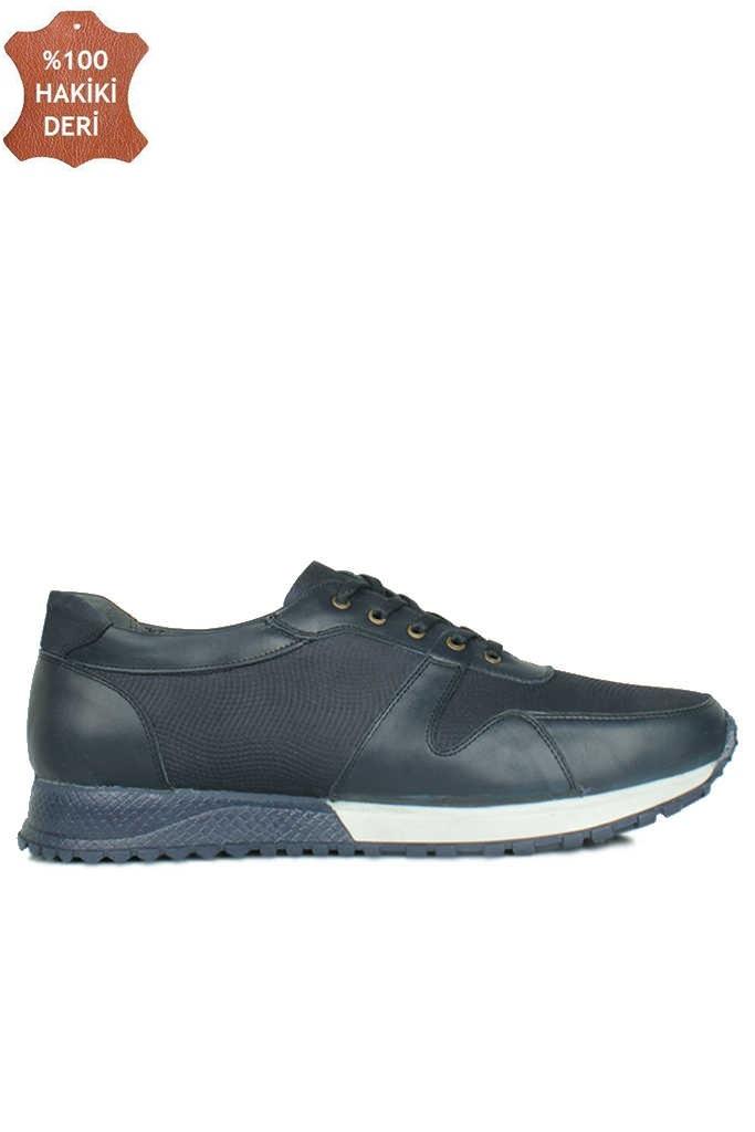Fitbas 914512 424 Erkek Lacivert Deri Spor Büyük Numara Ayakkabı