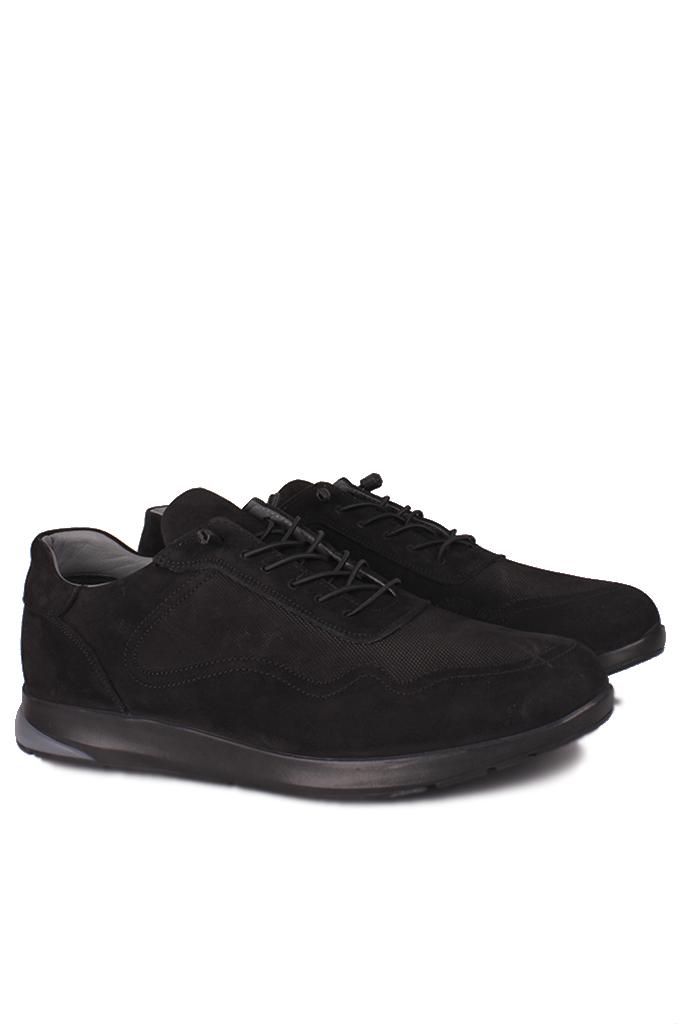 Erkan Kaban 914601 008 Erkek Siyah Deri Spor Büyük Numara Ayakkabı