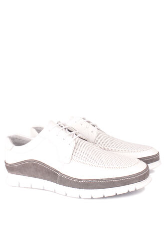 Erkan Kaban - Erkan Kaban 914602 468 Erkek Beyaz Deri Spor Büyük Numara Ayakkabı (1)
