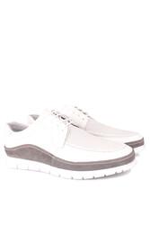 Erkan Kaban 914602 468 Erkek Beyaz Deri Spor Büyük Numara Ayakkabı - Thumbnail