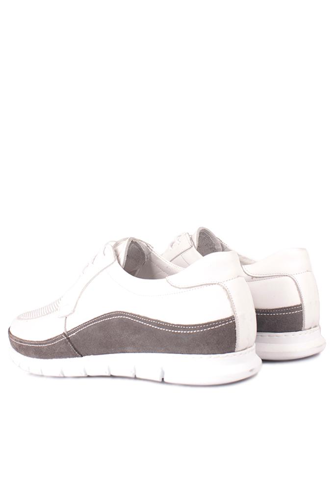 Erkan Kaban 914602 468 Erkek Beyaz Deri Spor Büyük Numara Ayakkabı