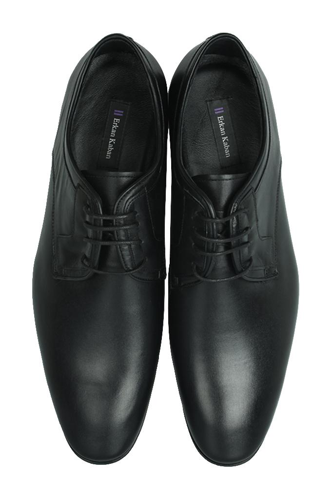 Erkan Kaban 979 014 Erkek Siyah Deri Klasik Büyük & Küçük Numara Ayakkabı