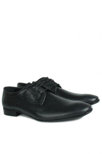 Fitbas - Fitbas 979 014 Erkek Siyah Deri Klasik Büyük & Küçük Numara Ayakkabı (1)