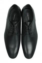 Fitbas 979 014 Erkek Siyah Deri Klasik Büyük & Küçük Numara Ayakkabı - Thumbnail