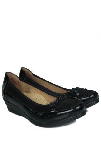 33 34 41 42 43 44 45 Küçük Büyük Numara Kadın Ayak - Erkan Kaban 6475 025 Kadın Siyah Günlük Ayakkabı (1)