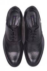 Erkan Kaban 327 014 Erkek Siyah Deri Klasik Büyük & Küçük Numara Ayakkabı - Thumbnail