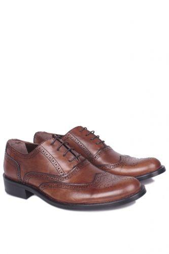 Fitbas - Fitbas 327 167 Erkek Taba Deri Klasik Büyük & Küçük Numara Ayakkabı (1)