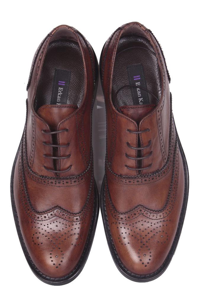 Fitbas 327 167 Erkek Taba Deri Klasik Büyük & Küçük Numara Ayakkabı