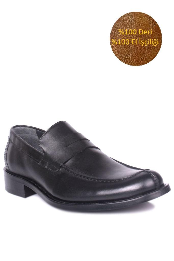 Erkan Kaban 332 014 Erkek Siyah Deri Klasik Ayakkabı