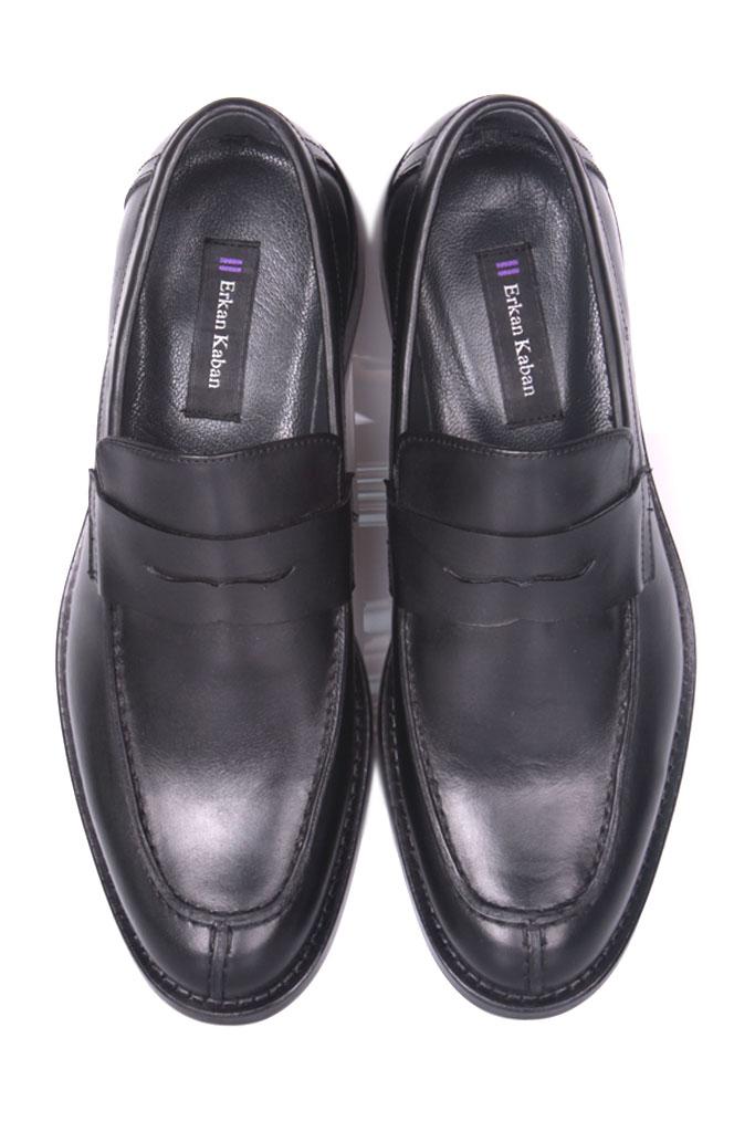 Erkan Kaban 332 014 Erkek Siyah Deri Klasik Büyük & Küçük Numara Ayakkabı