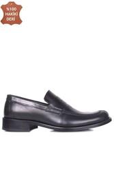 Erkan Kaban 332 014 Erkek Siyah Deri Klasik Büyük & Küçük Numara Ayakkabı - Thumbnail