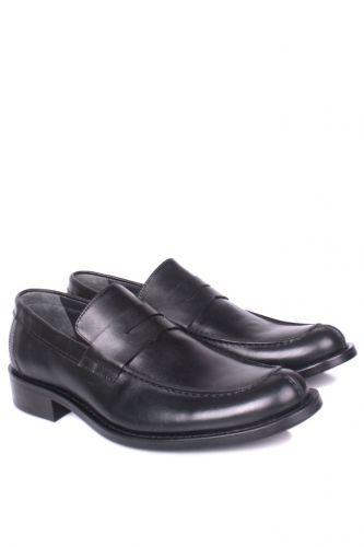 Fitbas - Fitbas 332 014 Erkek Siyah Deri Klasik Büyük & Küçük Numara Ayakkabı (1)