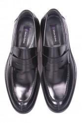 Erkan Kaban 332 020 Erkek Siyah Açma Deri Klasik Ayakkabı - Thumbnail