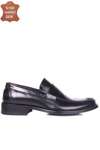 Erkan Kaban 332 020 Erkek Siyah Açma Deri Klasik Büyük & Küçük Numara Ayakkabı