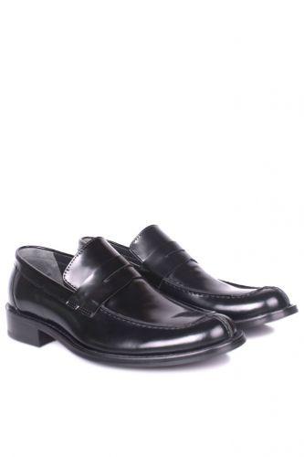 Fitbas - Fitbas 332 020 Erkek Siyah Açma Deri Klasik Büyük & Küçük Numara Ayakkabı (1)