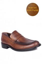 Fitbas 332 167 Erkek Taba Deri Klasik Büyük & Küçük Numara Ayakkabı - Thumbnail
