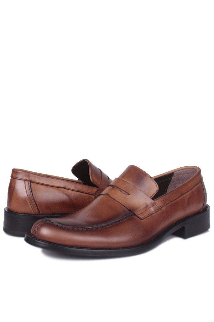 Fitbas 332 167 Erkek Taba Deri Klasik Büyük & Küçük Numara Ayakkabı