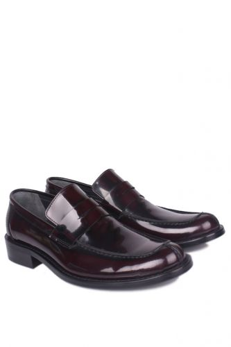 Fitbas - Erkan Kaban 332 620 Men Claret Red Mad Shiny Genuine Leather Classical Shoes (1)