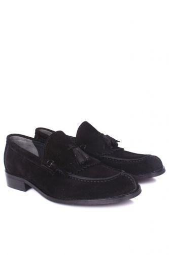 36 37 38 39 46 48 49 Küçük Büyük Numara Erkek Ayak - Erkan Kaban 335 008 Erkek Siyah Süet Klasik Ayakkabı (1)