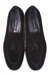 Erkan Kaban 335 008 Erkek Siyah Süet Klasik Büyük & Küçük Numara Ayakkabı - Thumbnail