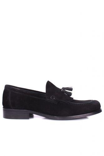 Fitbas 335 008 Erkek Siyah Süet Klasik Büyük & Küçük Numara Ayakkabı