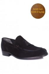 Fitbas 335 008 Erkek Siyah Süet Klasik Büyük & Küçük Numara Ayakkabı - Thumbnail