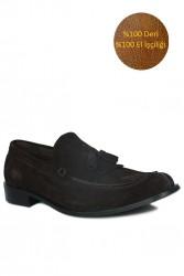 Fitbas 335 242 Erkek Kahve Süet Klasik Büyük & Küçük Numara Ayakkabı - Thumbnail