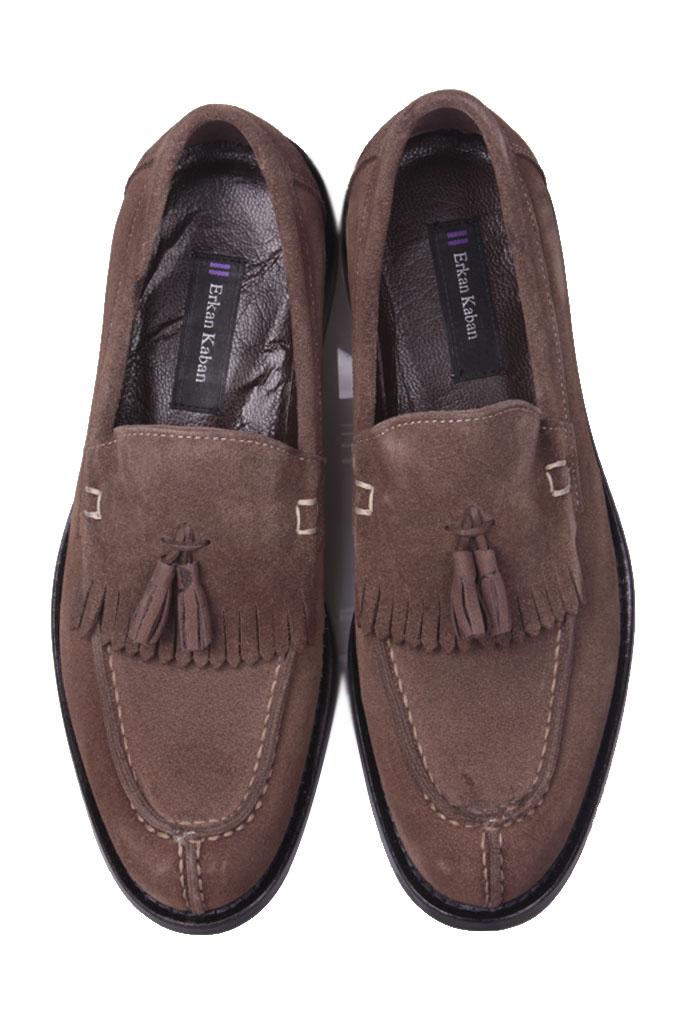 Erkan Kaban 335 321 Erkek Haki Süet Klasik Ayakkabı
