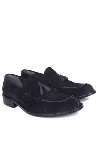 Erkan Kaban - Erkan Kaban 335 427 Men Navy Blue Suede Classical Shoes (1)