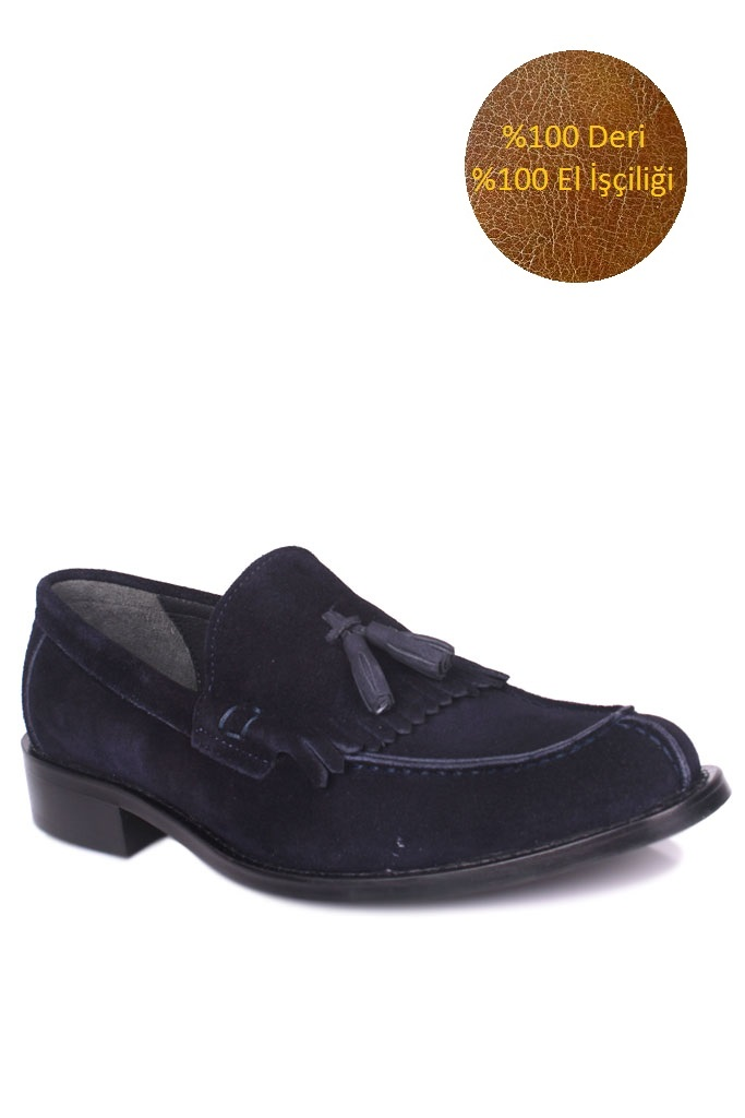 Erkan Kaban 335 427 Erkek Lacivert Süet Klasik Büyük & Küçük Numara Ayakkabı