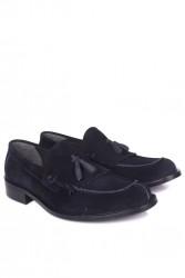 Erkan Kaban 335 427 Erkek Lacivert Süet Klasik Büyük & Küçük Numara Ayakkabı - Thumbnail