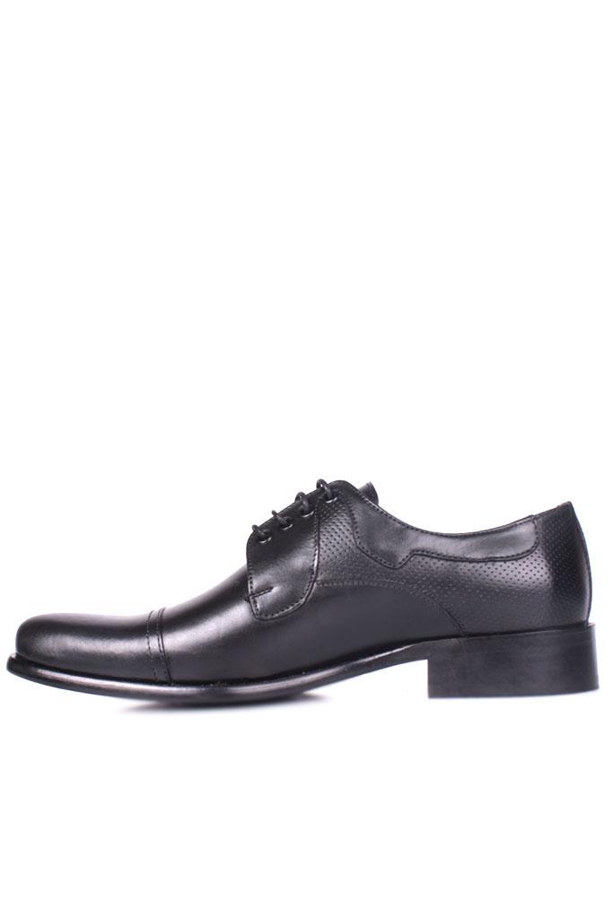 Erkan Kaban 754 019 Erkek Siyah Deri Klasik Büyük & Küçük Numara Ayakkabı