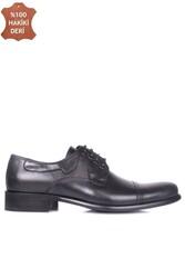 Erkan Kaban 754 019 Erkek Siyah Deri Klasik Büyük & Küçük Numara Ayakkabı - Thumbnail