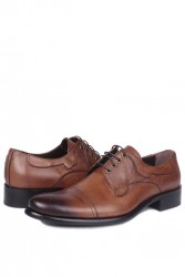 Erkan Kaban 754 167 Erkek Taba Deri Klasik Büyük & Küçük Numara Ayakkabı - Thumbnail