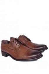 Fitbas 754 167 Erkek Taba Deri Klasik Büyük & Küçük Numara Ayakkabı - Thumbnail