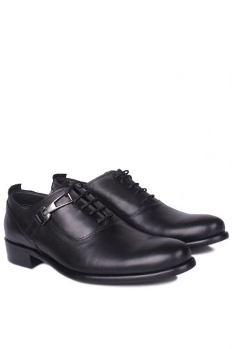 Erkan Kaban - Erkan Kaban 801 014 Erkek Siyah Deri Klasik Büyük & Küçük Numara Ayakkabı (1)
