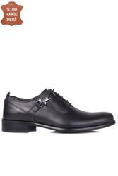 Erkan Kaban 801 014 Erkek Siyah Deri Klasik Büyük & Küçük Numara Ayakkabı - Thumbnail