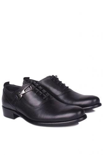 Fitbas - Fitbas 801 014 Erkek Siyah Deri Klasik Büyük & Küçük Numara Ayakkabı (1)