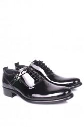 Erkan Kaban 801 020 Erkek Siyah Rugan Klasik Ayakkabı - Thumbnail