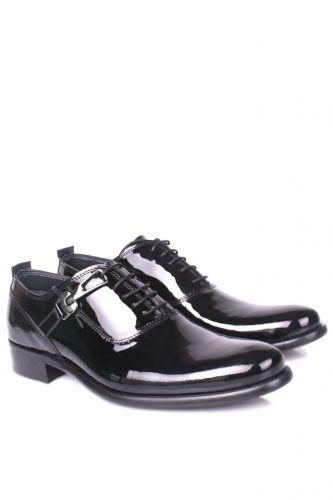 36 37 38 39 46 48 49 Küçük Büyük Numara Erkek Ayak - Erkan Kaban 801 020 Erkek Siyah Rugan Klasik Ayakkabı (1)