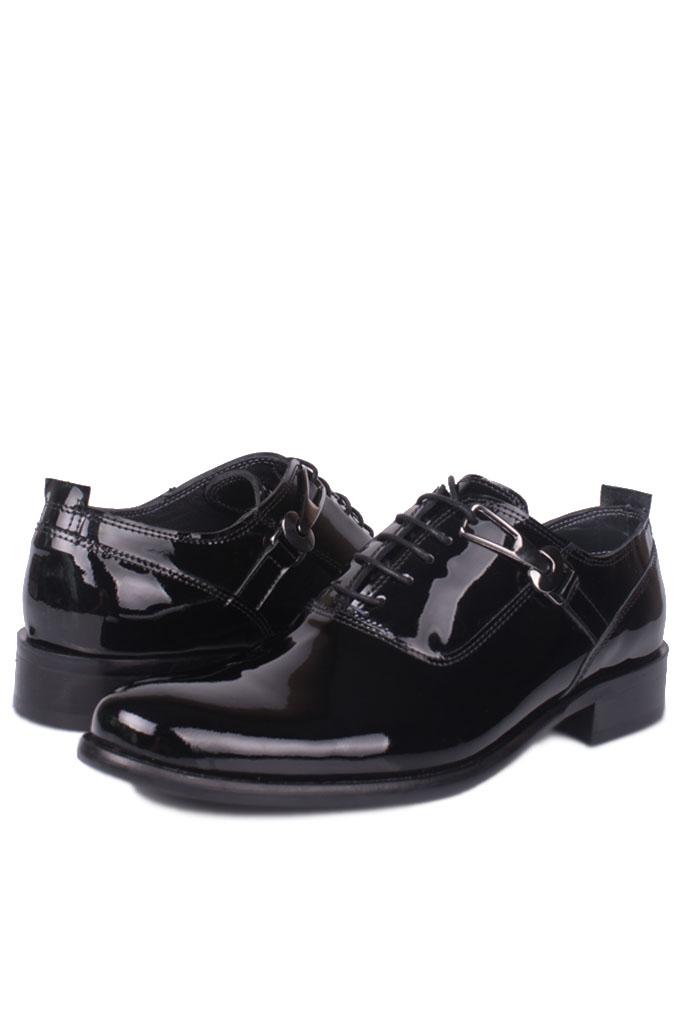 Erkan Kaban 801 020 Erkek Siyah Rugan Klasik Ayakkabı